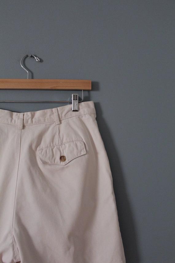 ANTIQUE white shorts | cotton tap shorts | high w… - image 9