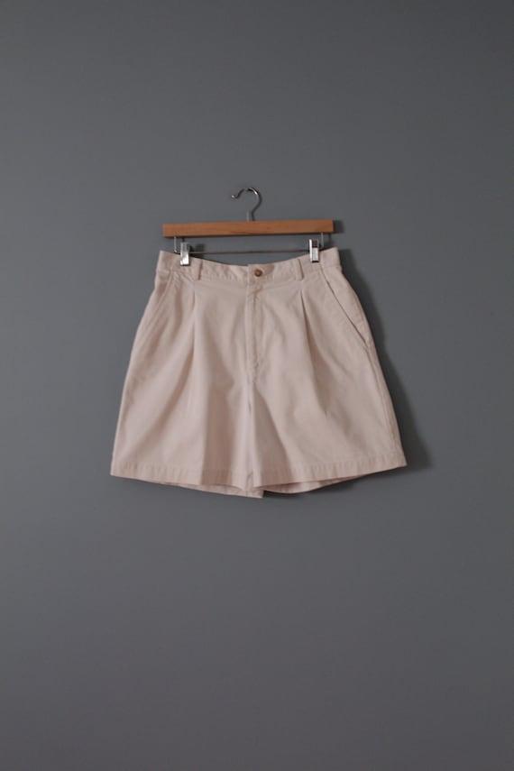 ANTIQUE white shorts | cotton tap shorts | high w… - image 2