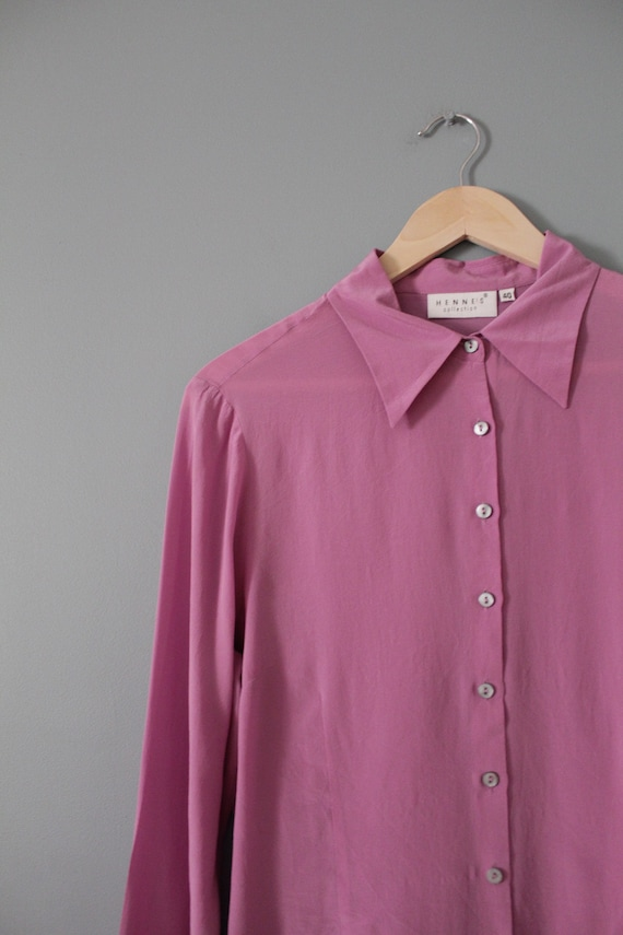 LILAC silk blouse | 1940s inspired silk top | min… - image 8