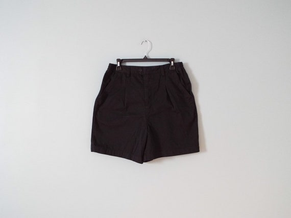 black cotton shorts   straight engineer shorts   c