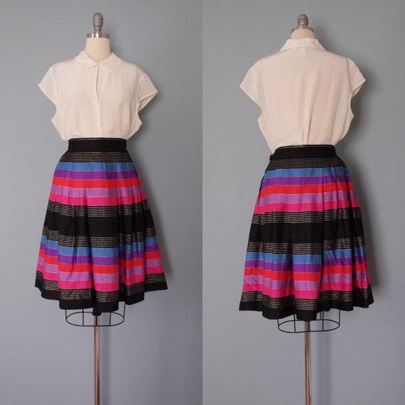 STRIPED silk pleated skirt   1970s JANE CLODEL sk… - image 9