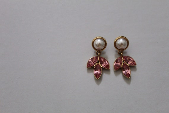 NAPIER dangle earrings | large pearls earrings | r