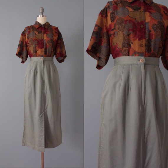 SAGE cotton skirt | longline maxi skirt | sage gre