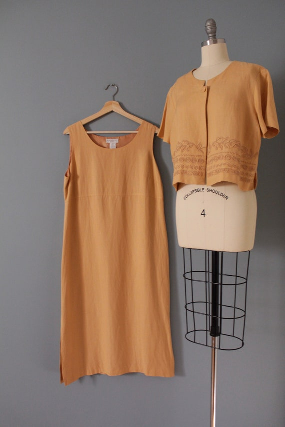 CLAY linen dress set | soutache crop top and dres… - image 4