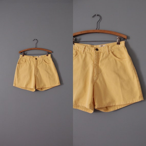 MARIGOLD denim shorts | high waisted denim shorts