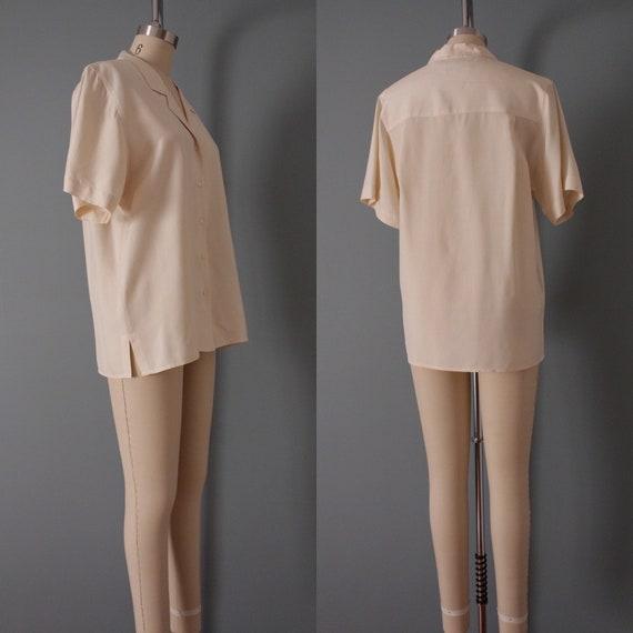 VANILLA silk blouse | silk collared chemise | sho… - image 10