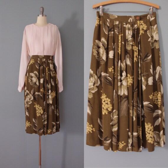 MOSS green wrap skirt | botanical maxi skirt pleat