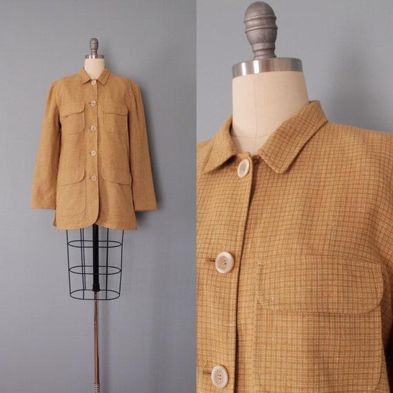 APARA Paris linen jacket | waffle brown linen jack