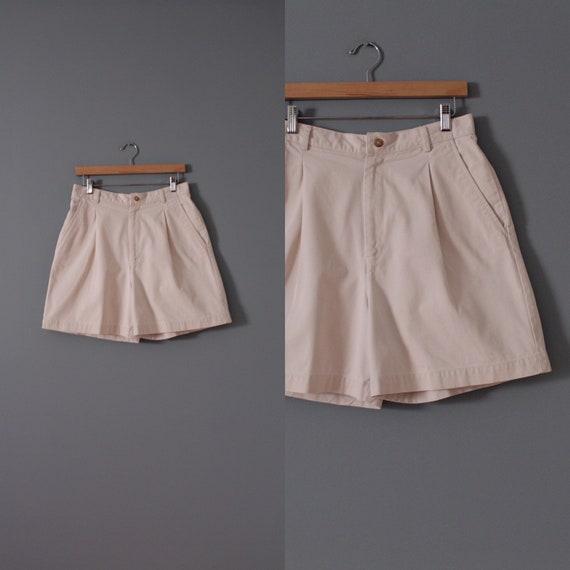 ANTIQUE white shorts | cotton tap shorts | high wa