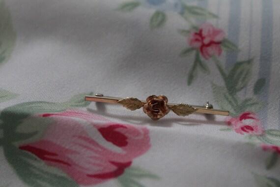 ROSE bar pin brooch   blouse pin brooch   Victori… - image 1