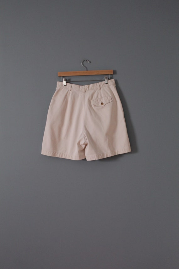 ANTIQUE white shorts | cotton tap shorts | high w… - image 7