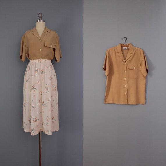 ALMOND silk blouse