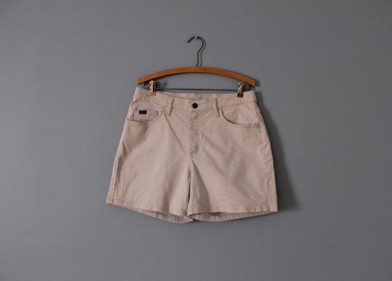 NUDE beige cotton shorts   vintage tap shorts   co