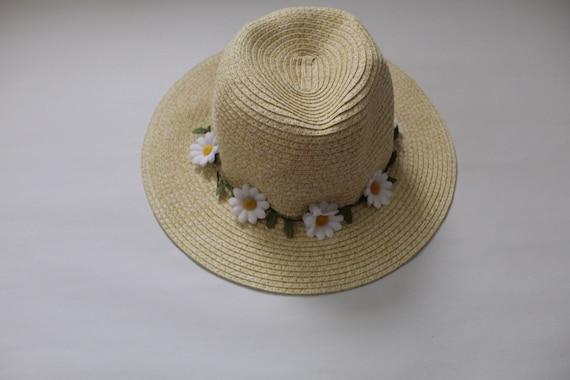 DAISIES fedora hat | straw fedora hat | daisy embe