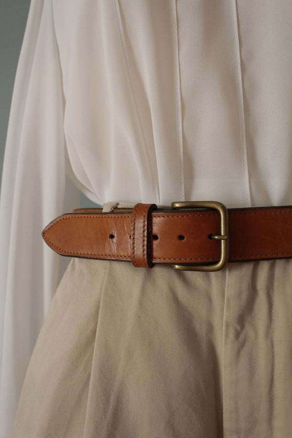 CHESTNUT leather belt   Bohemian leather saddle be