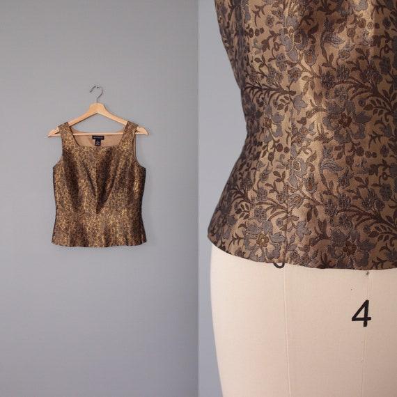 BROCADE silk corset top | brocade tapestry corset