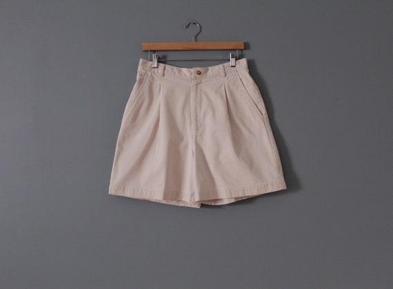 ANTIQUE white shorts | cotton tap shorts | high w… - image 3