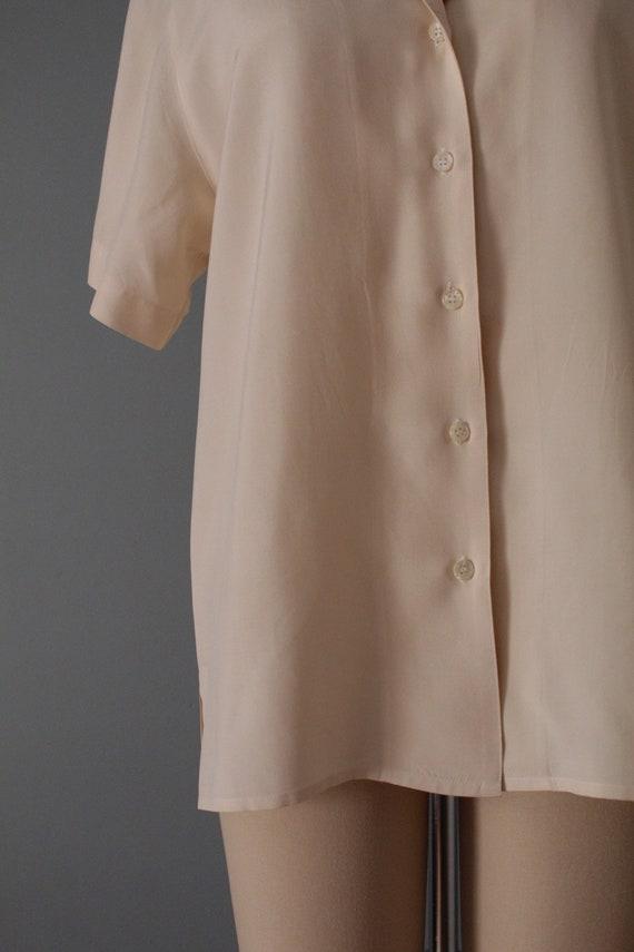 VANILLA silk blouse | silk collared chemise | sho… - image 9
