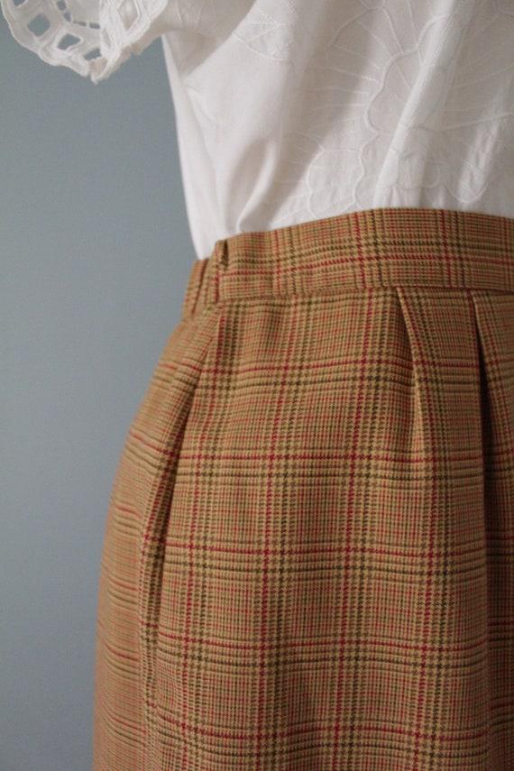 AUBURN plaid mini skirt   1980s mini pencil skirt… - image 6