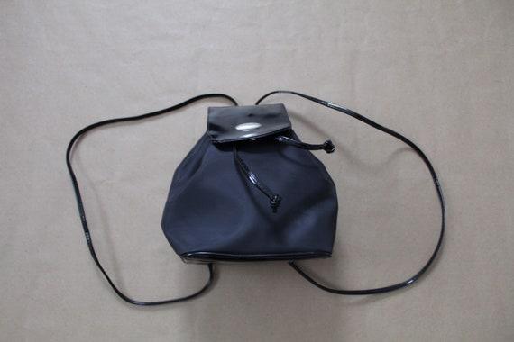 VEGAN backpack | black canvas backpack | drawstrin