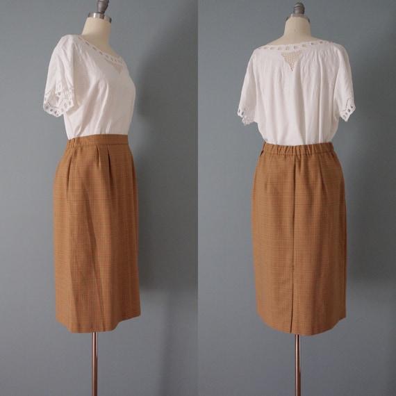 AUBURN plaid mini skirt   1980s mini pencil skirt… - image 7