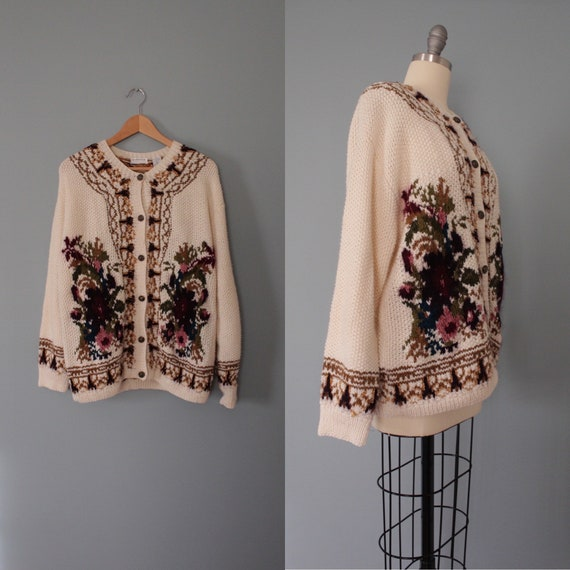 BOTANICAL garden cardigan | hand-knitted boucle ca