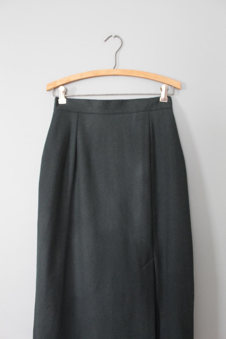 1990s wool maxi skirt wool maxi skirt FOREST green wool skirt