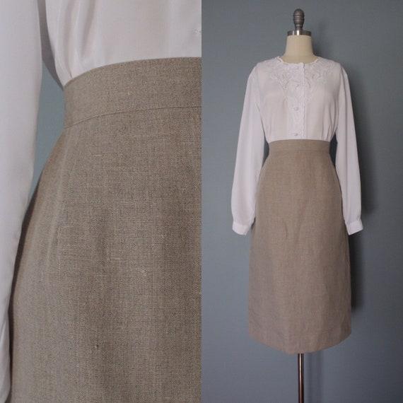 STORMY gray linen skirt | new old stock longline s