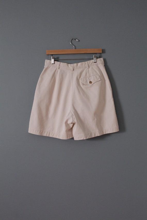 ANTIQUE white shorts | cotton tap shorts | high w… - image 8