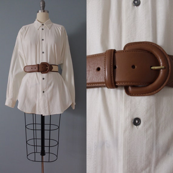 NUTMEG leather belt | woven straw and leather belt