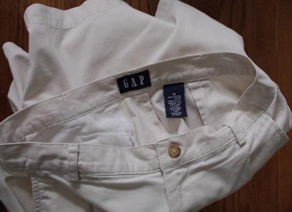 ANTIQUE white shorts | cotton tap shorts | high w… - image 10