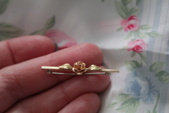 ROSE bar pin brooch   blouse pin brooch   Victori… - image 3
