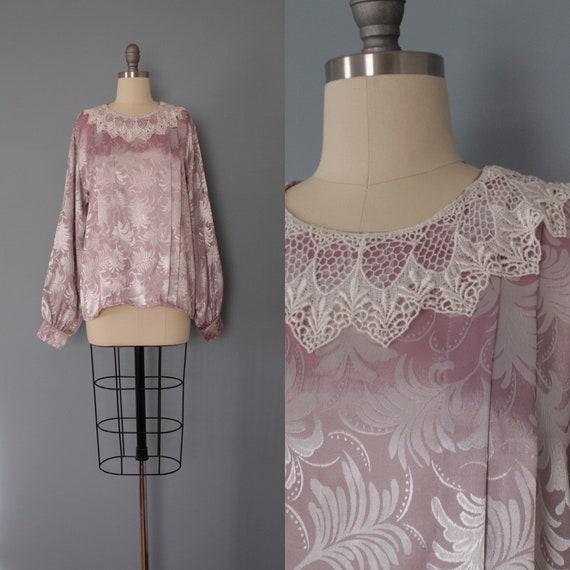 FROSTY window blouse   lace collar poet blouse   p