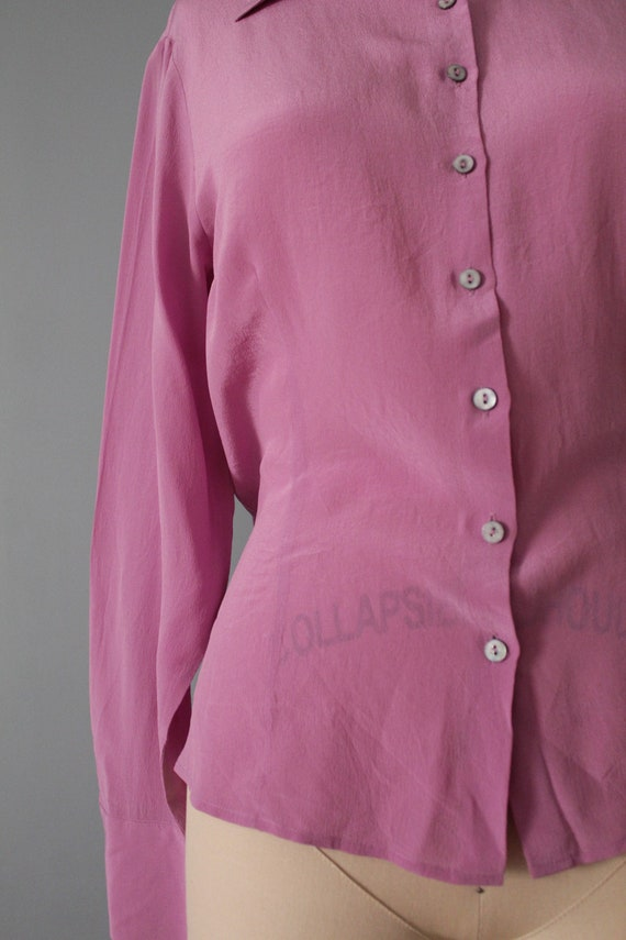 LILAC silk blouse | 1940s inspired silk top | min… - image 4