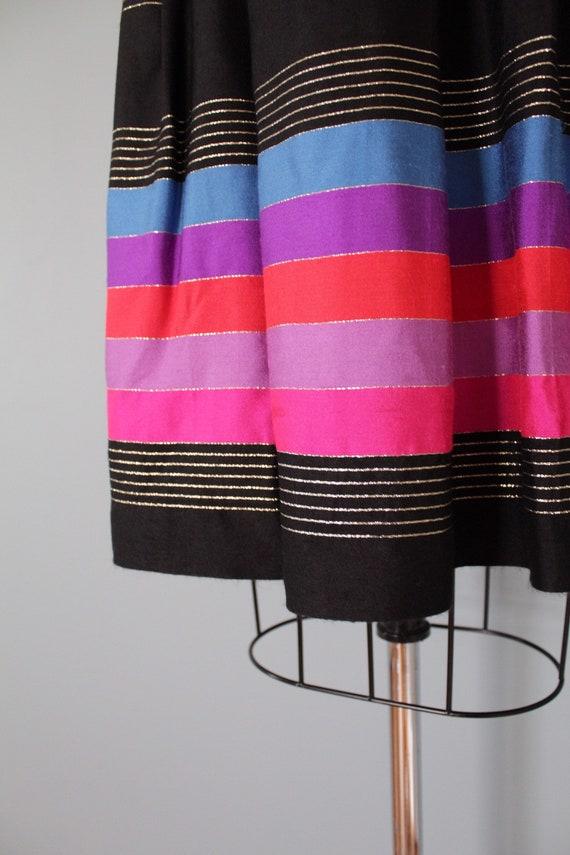 STRIPED silk pleated skirt   1970s JANE CLODEL sk… - image 8