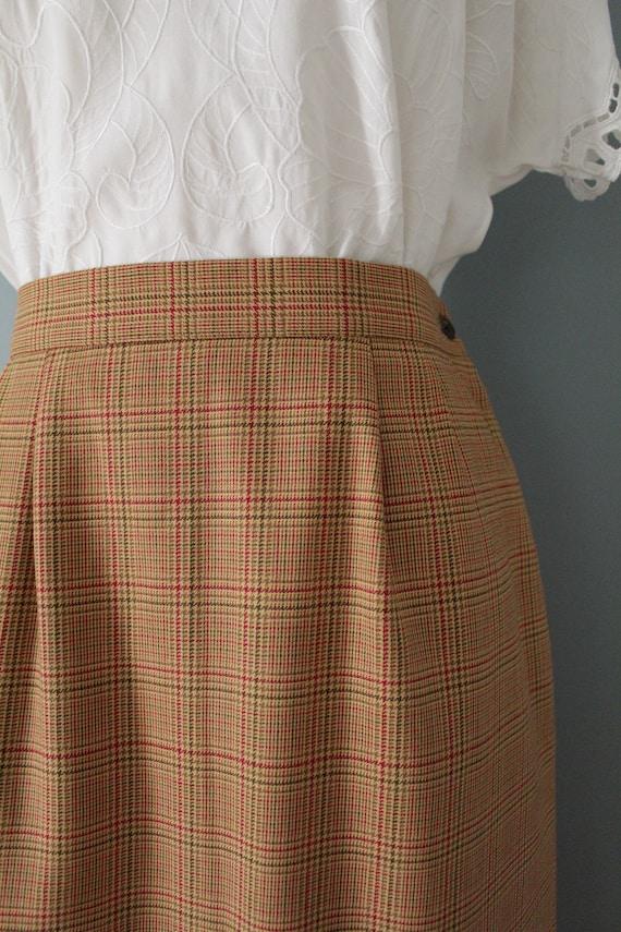 AUBURN plaid mini skirt   1980s mini pencil skirt… - image 5