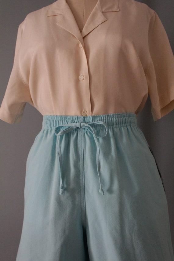 VANILLA silk blouse | silk collared chemise | sho… - image 5