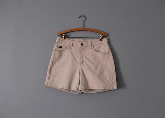 BEIGE summer shorts | 1990s cotton shorts | beige