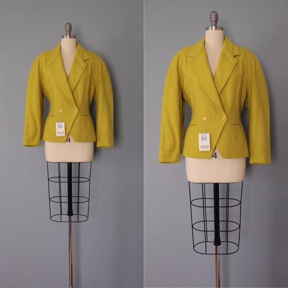CHARTREUSE cropped blazer | 1940s inspired blazer