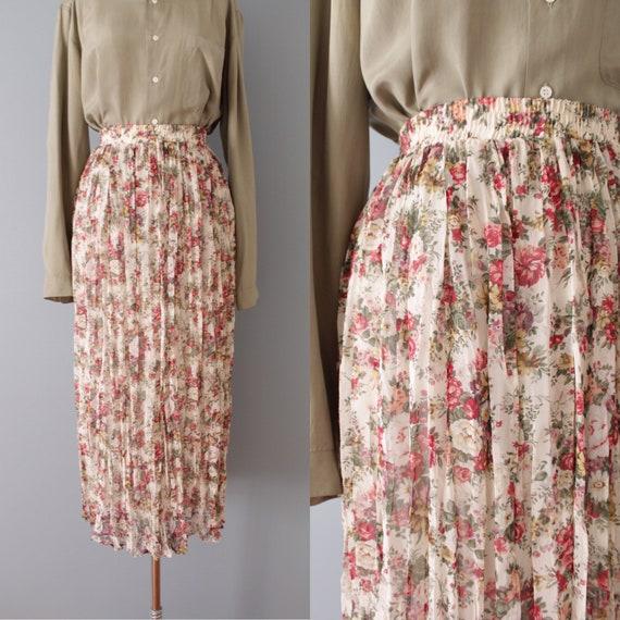 BOTANICAL crinkle skirt | pleated bohemian maxi sk