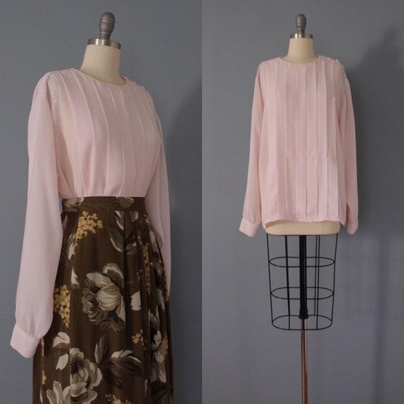 BLUSH pink poet blouse