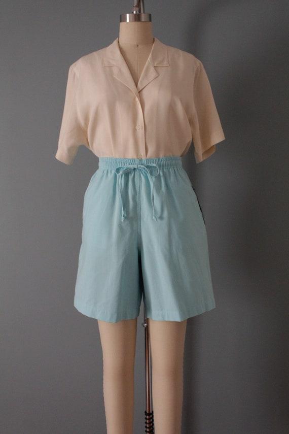 VANILLA silk blouse | silk collared chemise | sho… - image 4