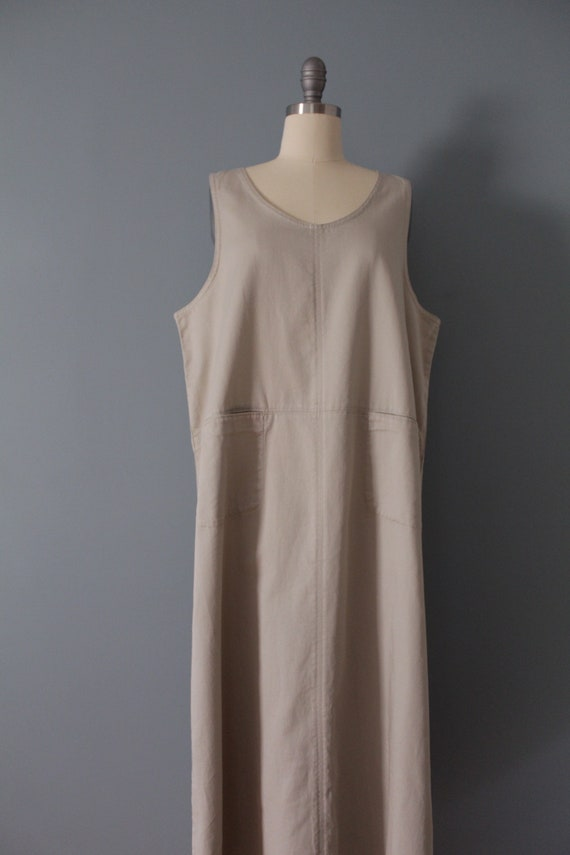 NUDE gray maxi dress | artist maxi dress | empire… - image 2