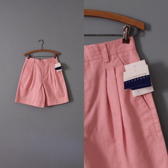 ROSE pink shorts   high waisted shorts   cotton ta
