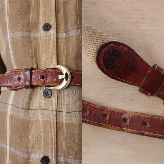 Dooney and Bourke belt | canvas and leather belt |