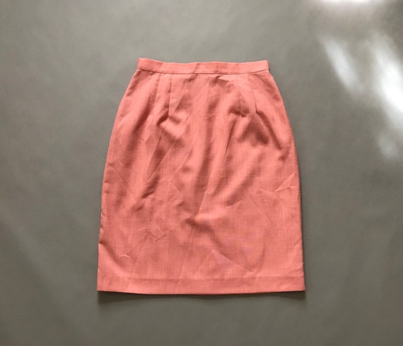 ROUGE pink mini skirt | 1980s pencil skirt