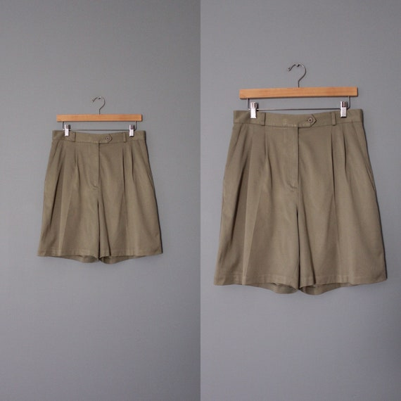 SAGE green tap shorts | high waisted tap shorts |
