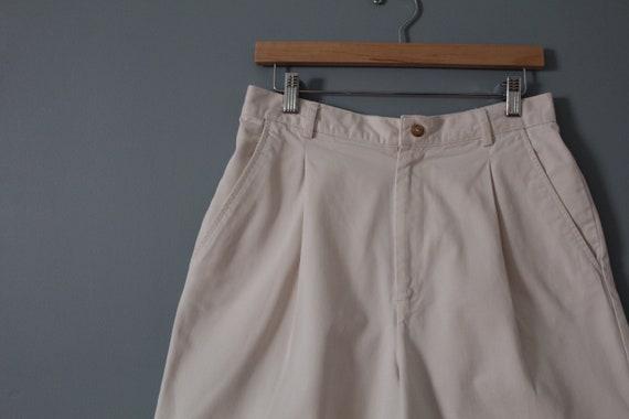 ANTIQUE white shorts | cotton tap shorts | high w… - image 4