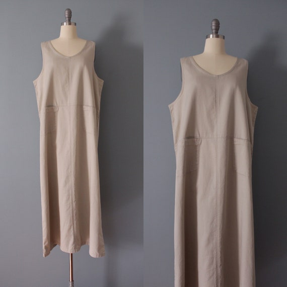 NUDE gray maxi dress | artist maxi dress | empire… - image 1