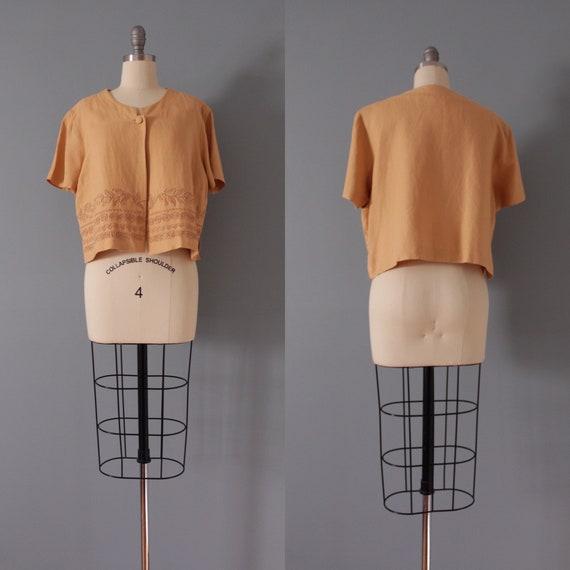 CLAY linen dress set | soutache crop top and dres… - image 9
